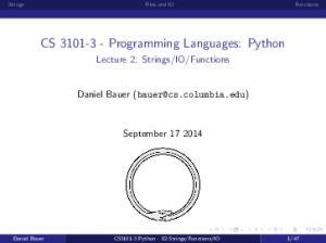 CS Programming Languages: Python