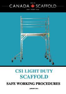CS1 LIGHT DUTY SCAFFOLD