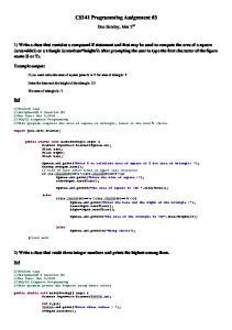 CS141 Programming Assignment #3