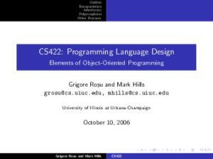 CS422: Programming Language Design