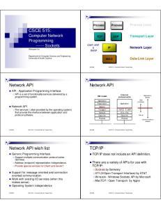 CSCE515 Computer Network Programming