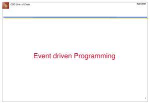 CSD Univ. of Crete Fall Event driven Programming