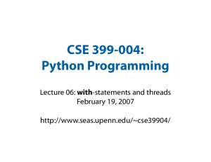 CSE : Python Programming
