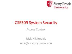 CSE509 System Security