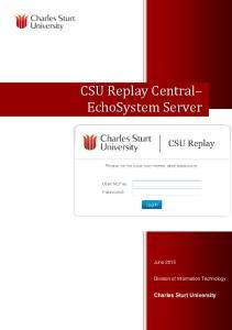 CSU Replay Central EchoSystem Server