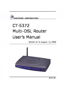CT-5372 Multi-DSL Router User s Manual