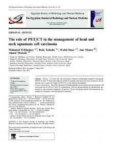 CT in the management of head and neck squamous cell carcinoma