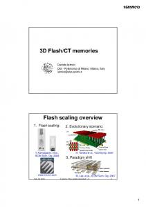 CT memories. Flash scaling overview