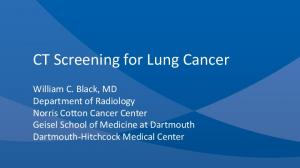 CT Screening for Lung Cancer