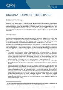 CTAS IN A REGIME OF RISING RATES