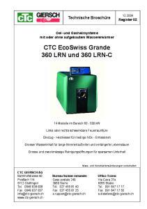CTC EcoSwiss Grande 360 LRN und 360 LRN-C