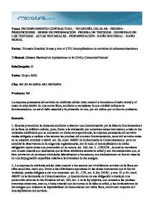 CTI incumplimiento de servicios de telecomunicaciones