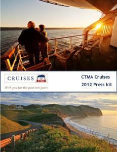 CTMA Cruises 2012 Press kit