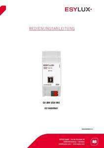 CU-DIN USB KNX EC