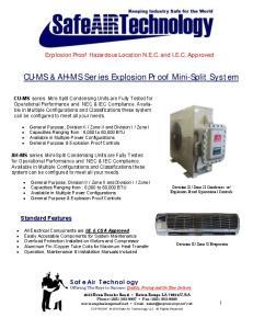 CU-MS & AH-MS Series Explosion Proof Mini-Split System