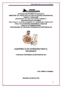 CUADERNILLO DE EJERCICIOS PARA EL ESTUDIANTE
