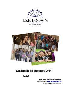 Cuadernillo del Ingresante 2014