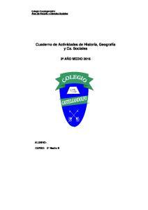 Cuaderno de Actividades de Historia, Geografía y Cs. Sociales