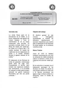 CUADERNO DE LA CLINICA DE TRAUMATOLOGIA Y ORTOPEDIA DEL ADULTO
