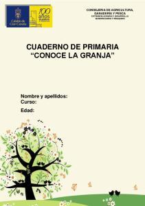CUADERNO DE PRIMARIA CONOCE LA GRANJA