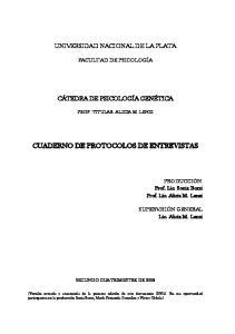 CUADERNO DE PROTOCOLOS DE ENTREVISTAS
