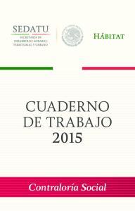 CUADERNO DE TRABAJO 2015