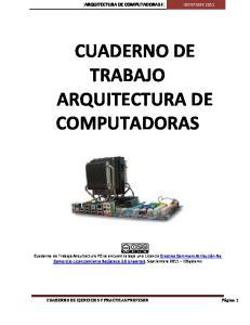 CUADERNO DE TRABAJO ARQUITECTURA DE COMPUTADORAS
