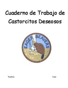 Cuaderno de Trabajo de Castorcitos Deseosos