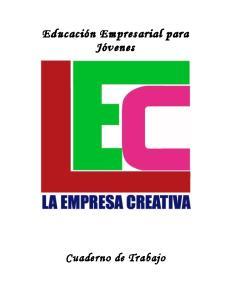 Cuaderno de Trabajo La Empresa Creativa