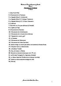 Cuaderno detemas de formación de Juveniles Curso 2º PROGRAMA DE JUVENILES 2º Curso