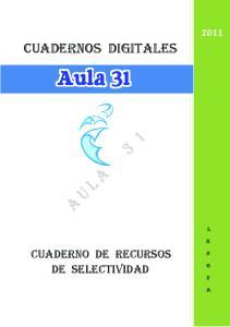 cuadernos DIGITALES CUADERNO DE Recursos DE selectividad