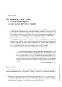 Cuadros para una región. El museo desperdigado en una novela de Carlos Fuentes