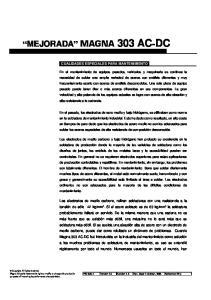 CUALIDADES ESPECIALES PARA MANTENIMIENTO