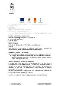 CUARTA.- CONDICIONES Y REQUISITOS QUE DEBEN CUMPLIR LOS ASPIRANTES