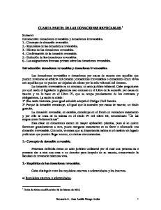 CUARTA PARTE: DE LAS DONACIONES REVOCABLES. 1