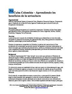Cuba-Colombia Aprendiendo los beneficios de la sericultura