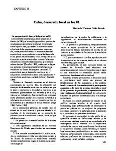 Cuba, desarrollo local en los 90