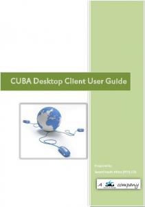 CUBA Desktop Client User Guide