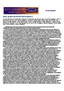 CUBA: HACIA UN NUEVO PACTO SOCIAL?