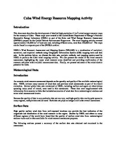 Cuba Wind Energy Resource Mapping Activity