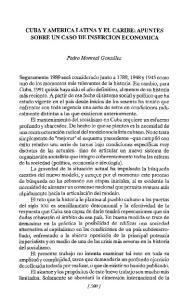 CUBA Y AMERICA LATINA y EL CARIBE: APUNTES SOBRE UN CASO DE INSERCION ECONOMICA