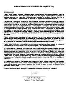 CUBIERTA CARE PLUS DE TRIPLE-S SALUD (MODELO C)
