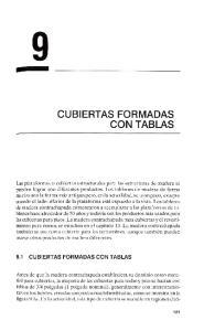 CUBIERTAS FORMADAS CON TABLAS