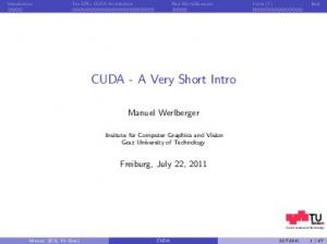 CUDA - A Very Short Intro