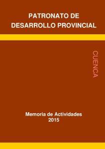 CUENCA PATRONATO DE DESARROLLO PROVINCIAL