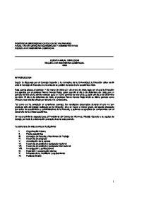 CUENTA ANUAL DIRECCION ESCUELA DE INGENIERIA COMERCIAL 2005