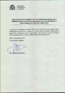 CUENTA GENERAL DEL ESTADO EJERCICIO 2010 RESUMEN