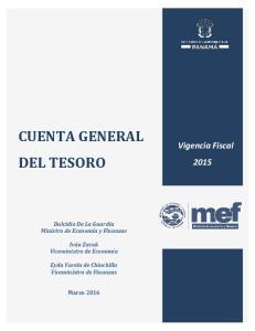 CUENTA GENERAL DEL TESORO