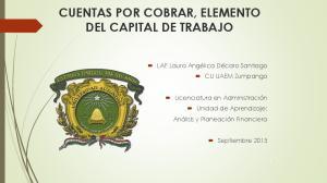 CUENTAS POR COBRAR, ELEMENTO DEL CAPITAL DE TRABAJO