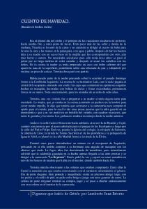 CUENTO DE NAVIDAD. 1 Digamos que hablo de Getafe, por Lamberto Sanz Esteras. (Basado en hechos reales)